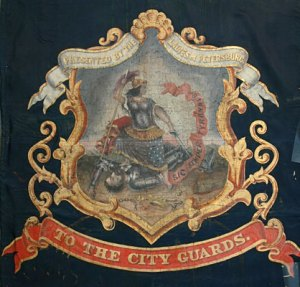 "Close-up, Flag of the ""Petersburg City Guard"""