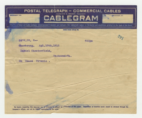 Mss2 D2235 b, Telegram 1 of 8
