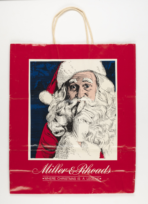 Miller & Rhoads shopping bag (Virginia Historical Society, 2008.142.1)