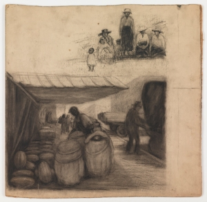 """Selling Watermelons"", Charcoal, ACE 60"
