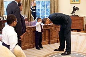 Obama with Carlton Philadephia's family