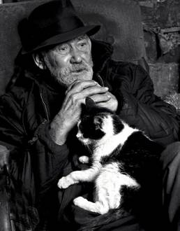Ernest and the Cat, Rockbridge County, 1973 by Jack Jeffers