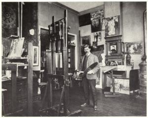"""Hoffbauer in his Paris Studio"" Virginia Historical Society; ND237.H665 G9"
