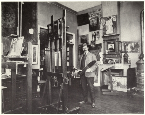 """Hoffbauer in his Paris Studio"" Virginia Historical Society; ND237.H665 G9"