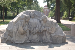 Trio of praying ministers sculpture in Kelly Ingram Park in Birmingham, Alabama.