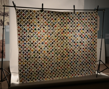 Backlit cathedral window quilt