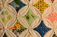 Detail of 1981 cathedral window quilt