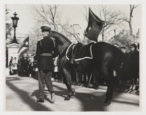 Following President Kennedy's cassion (Virginia Historical Society, Accession no. 2003.216.43)