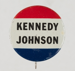 Political button from Kennedy's 1960 campaign, Virginia Historical Society, Accession no. 1992.250.45