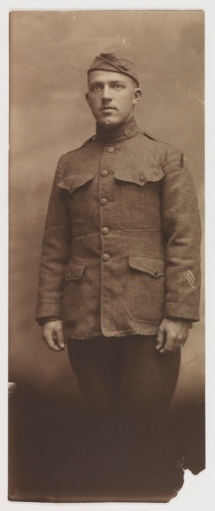 Samuel Julian Trimmer (1898-1972) at age 20 in uniform.