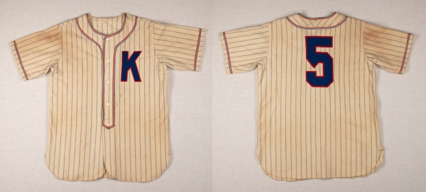 Baseball Jersey, c. 1930, wool. (Virginia Historical Society, 2007.11.1.A, purchased though through the William Anderson Hagey Fund)