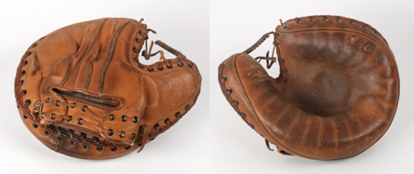 Catcher's Mitt, c. 1930, Wilson, leather and steel. (Virginia Historical Society, 2007.11.2, purchased through the William Anderson Hagey Fund)