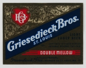 Griesedieck Bros. Beer Label (VHS call number: Mss1 R3395a)