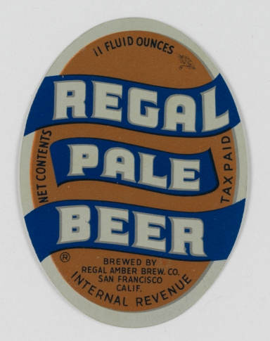 Regal Pale Beer Label (VHS call number: Mss1 R3395a)