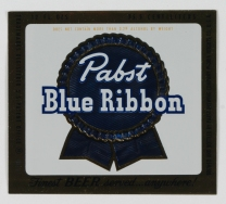 Pabst Blue Ribbon Beer Label (VHS call number: Mss1 R3395afa2)