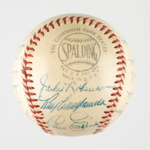1956 Brooklyn Dodgers autographed baseball