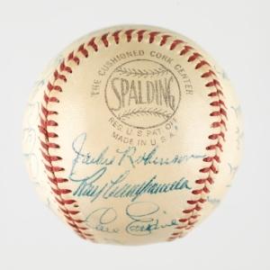 1956 Brooklyn Dodgers autographed baseball