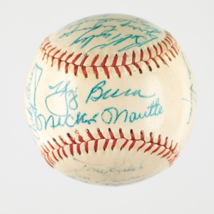1956 New York Yankees autographed baseball