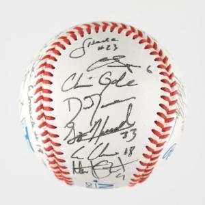 UVA autographed baseball