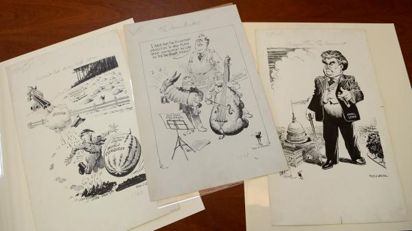 Three of the Virginia Historical Society's Seibel originals.