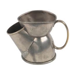 Pewter scuttle shaving mug