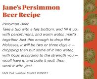 Jane's Persimmon Beer Recipe