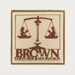 Lapel pin commemorating the Brown vs. Board of Education case (Virginia Historical Society, Accession number: 2014.79.8)