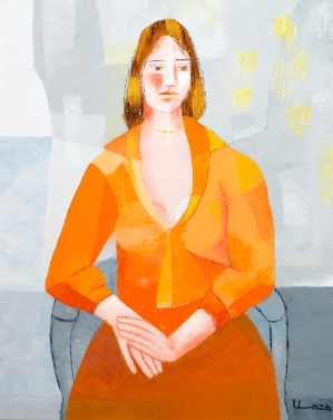 """Painting, """"Elizabeth Harris,"""" by Umana Mendez and Rafael Alfonso, mid-20th century. (VHS accession number: 2008.52.5)"""