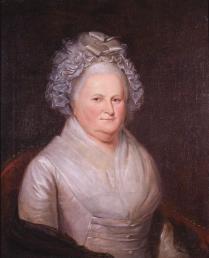 """Martha (Dandridge) Custis Washington,"" Charles Wilson Polk, about 1795. (VHS accession number: 1857.3)"