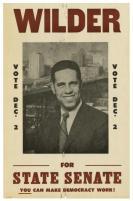 """Broadside, """"L. Douglas Wilder."""" This was a campaign poster for Wilder's state senate run. (VHS call number: Broadside o.s. 1969:9)"""
