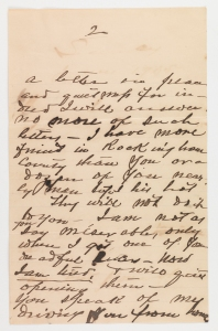 Compared to his earlier letters, Warren's handwriting had significantly declined.