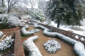 Now: View from the tea garden with freshly fallen snow