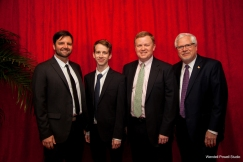 The Virginia Voices production team and me: Jeff Boedeker, Taylor Noll, Paul Levengood and Bob Noll.