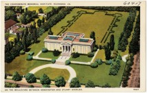 Postcard showing the landscaping of the Confederate Memorial Institute between 1930 and 1945. (Courtesy of Boston Public Library)