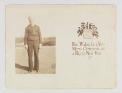Norman C. Leigers was stationed at Key West when he sent this Christmas postcard to the Woods. (Mss3 V81954a Sect. 5, f. 4)