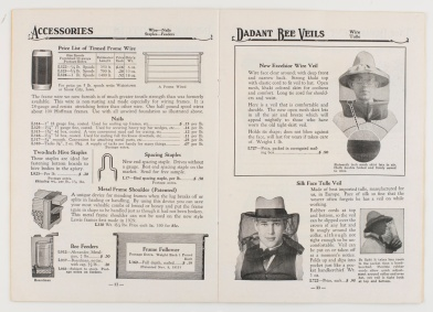 1930 catalog of Lewis Beeware and Dadant's Foundation. (VHS Call Number: SF533 .L67 1930)