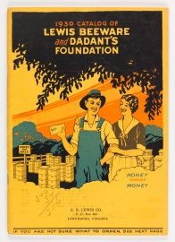 1930 catalog of Lewis Beeware and Dadant's Foundation.
