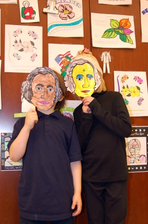 Stories at the Museum crafts - George Washington masks