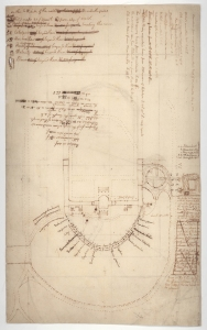 Thomas Jefferson's plan of the Monticello mountaintop layout