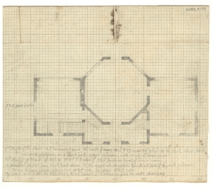 Thomas Jefferson's plan of Poplar Forest